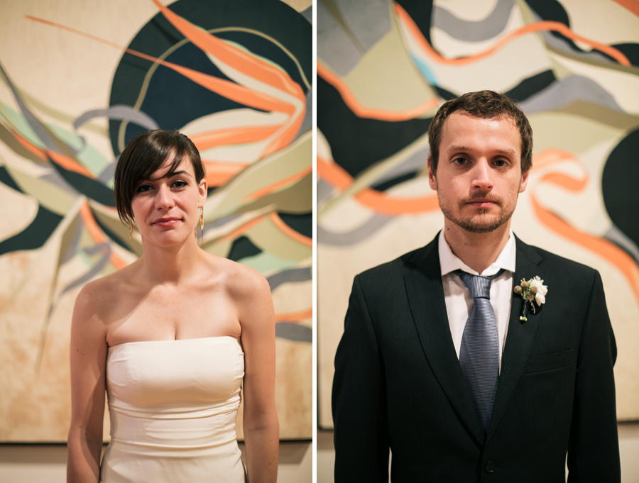 Bride and Groom in Chicago Cultural Center