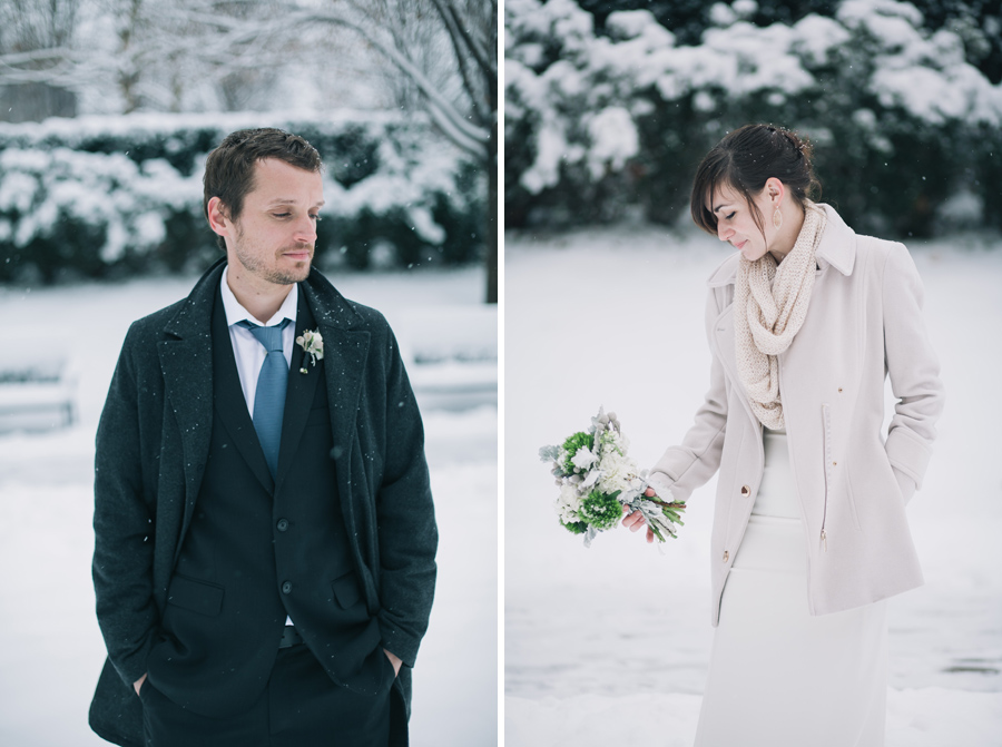 Millennium Park Park Wedding in winter