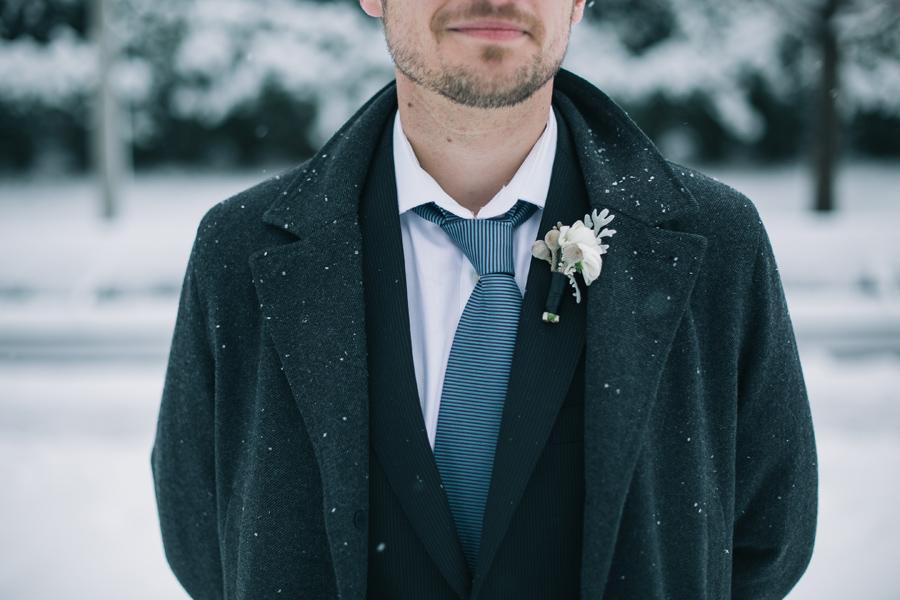 Millennium Park Park Wedding in winter