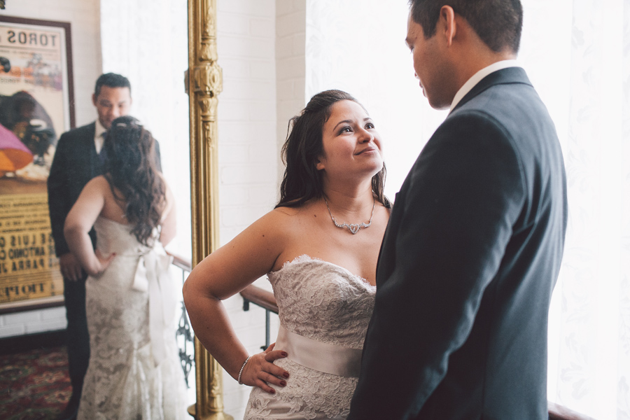 Bride and Groom in Meson Sabika