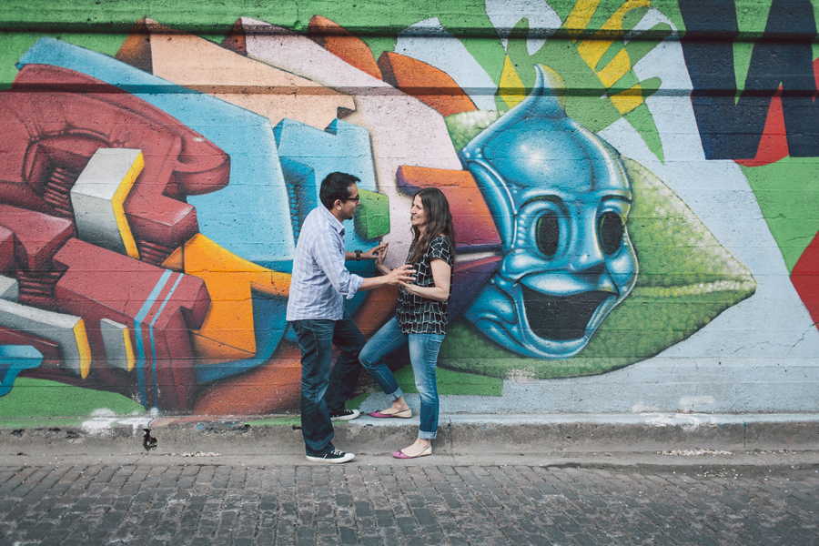 Urban Themed Engagement Session in Chicago