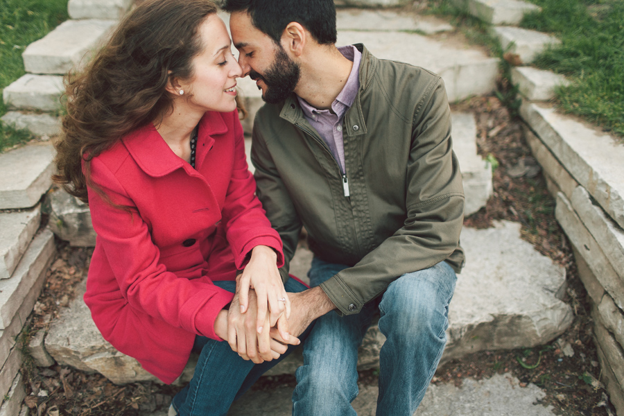 Romantic Engagement Photos Lincoln Park Chicago