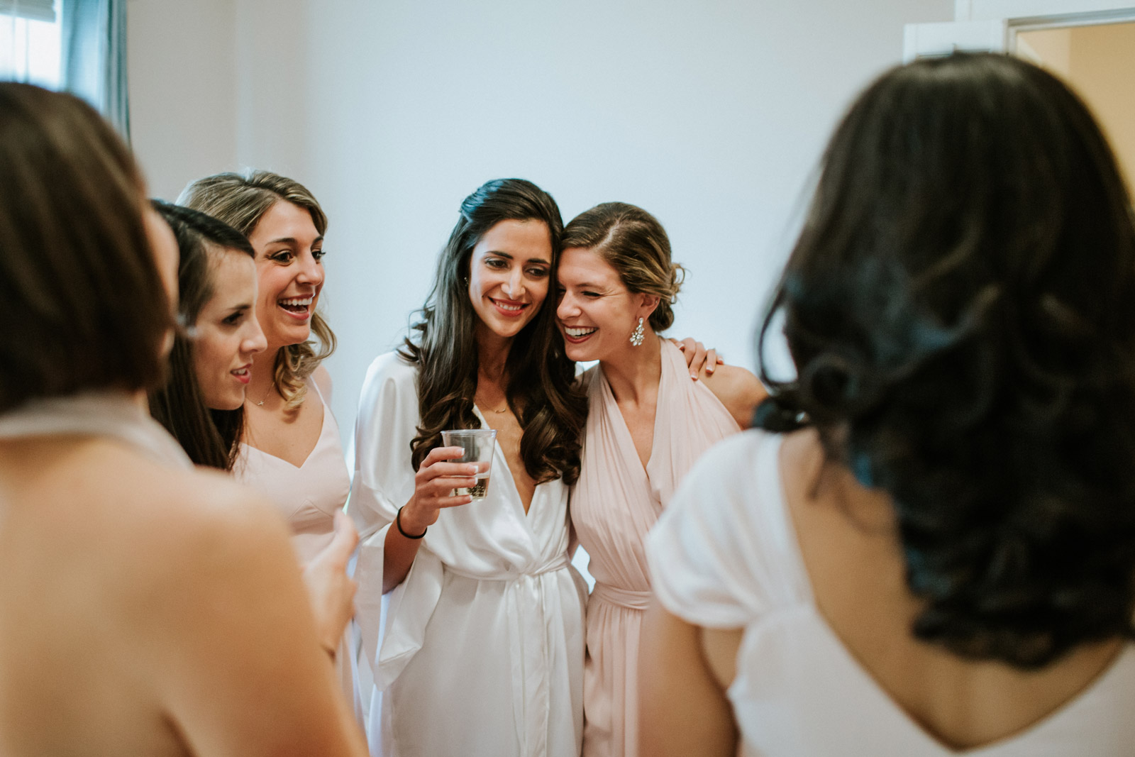 photo of the bride and her bridesmaids captured by Mark Trela Photography in Chicago
