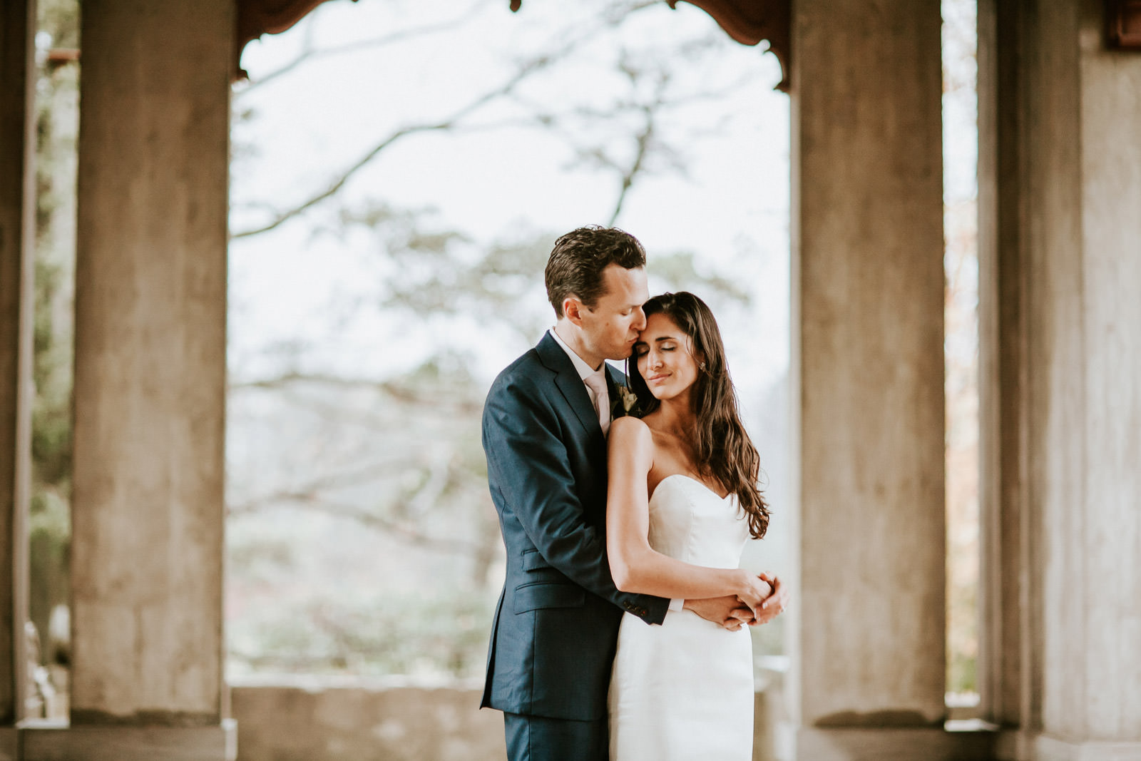 Fine Art portraits of bride and groom taken in Armour House Lake Forest