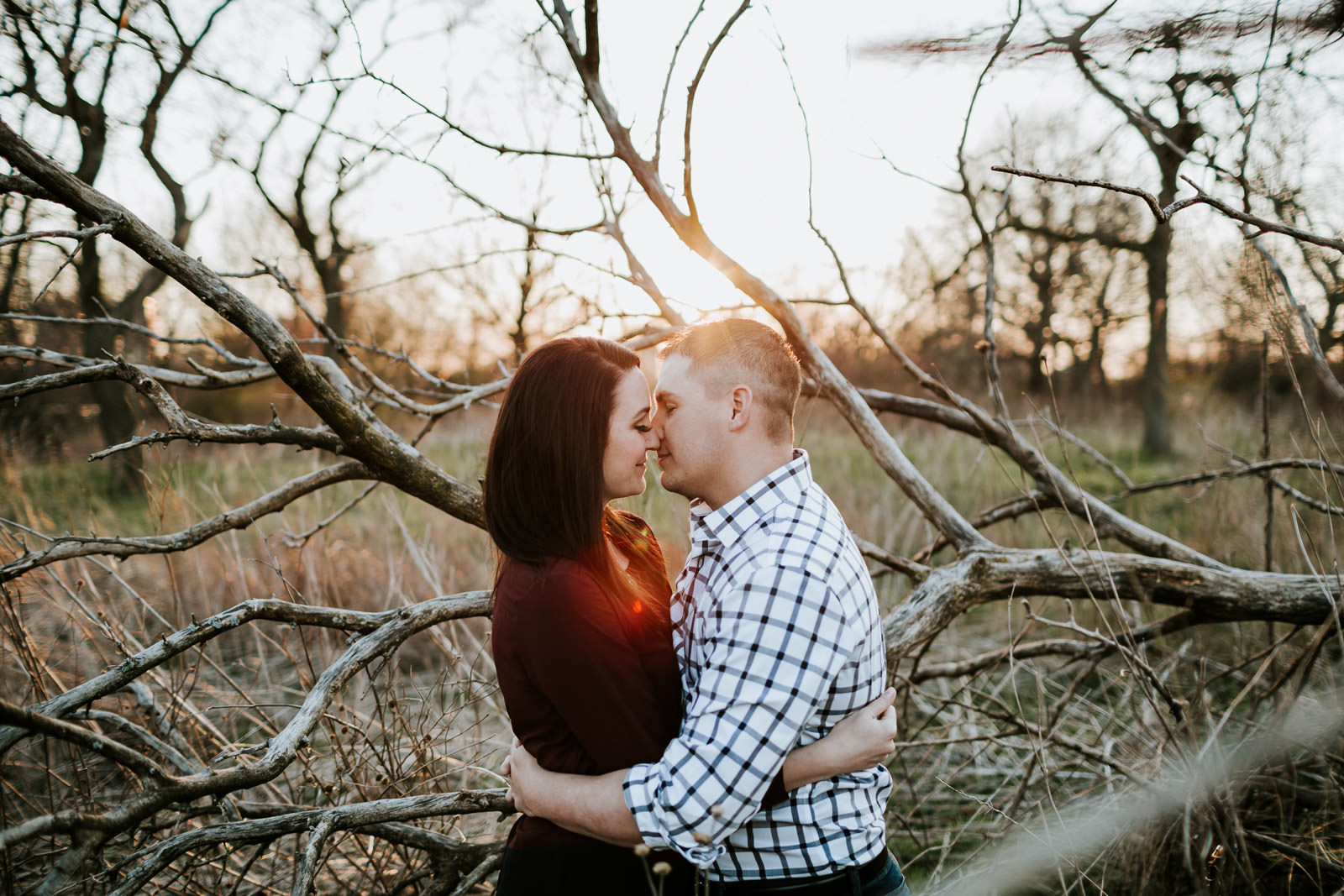 Chicago Sunset engagement session