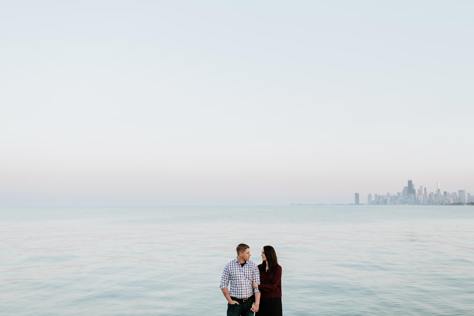Montrose Beach engagement photographer