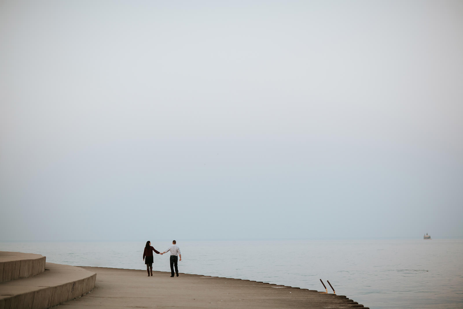 Photojournalistic engagement photographer chicago