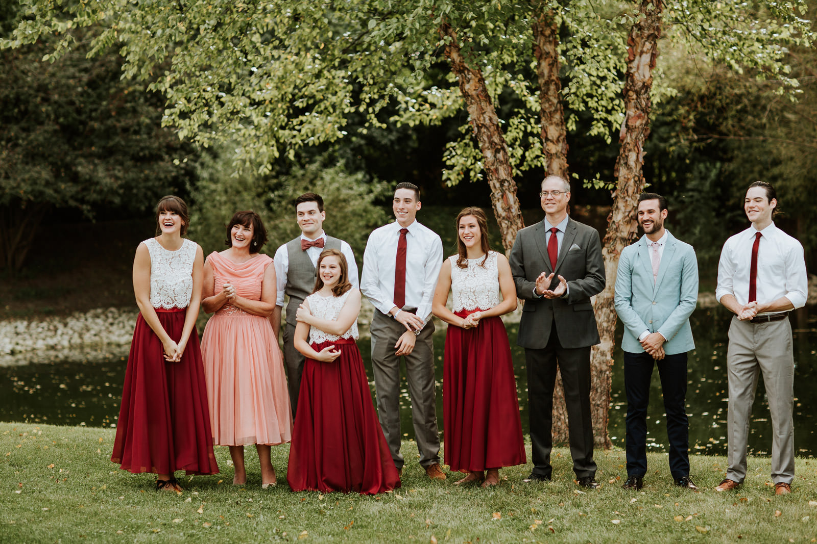 first look backyard wedding