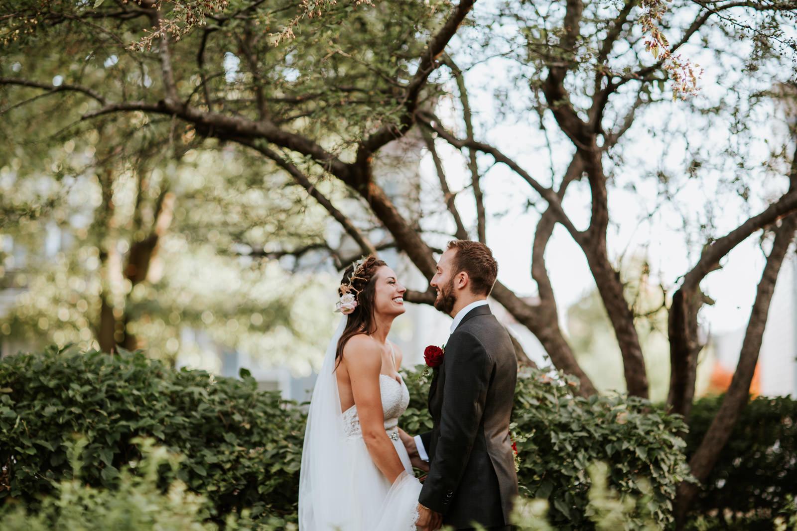 Outdoor wedding ceremony photos Chicago Illinois
