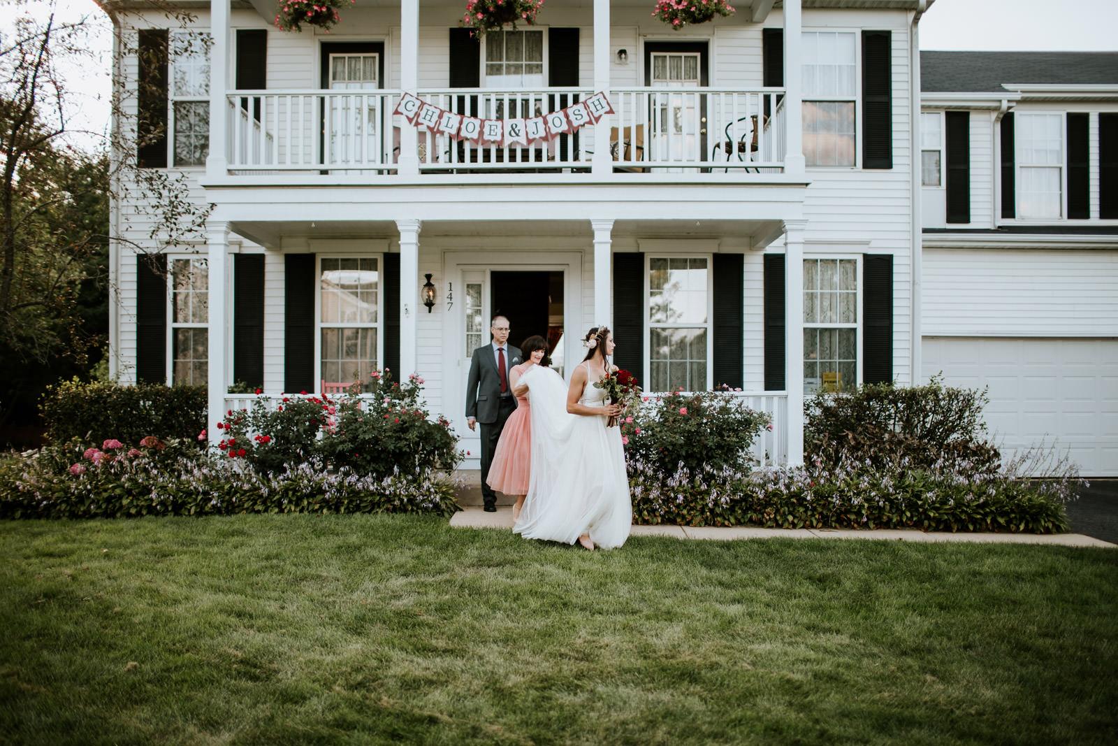 DYI Garden Wedding Photography Chicago Illinois