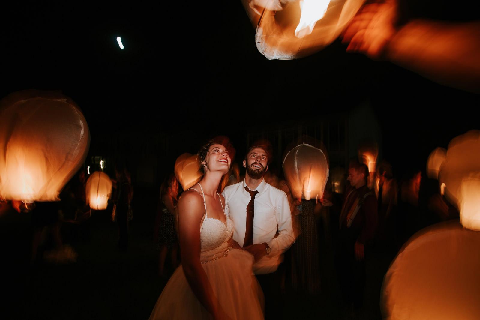 Wedding Laterns send off photos