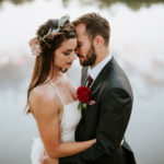outdoor wedding photos boho bride