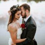 outdoor wedding photos boho bride
