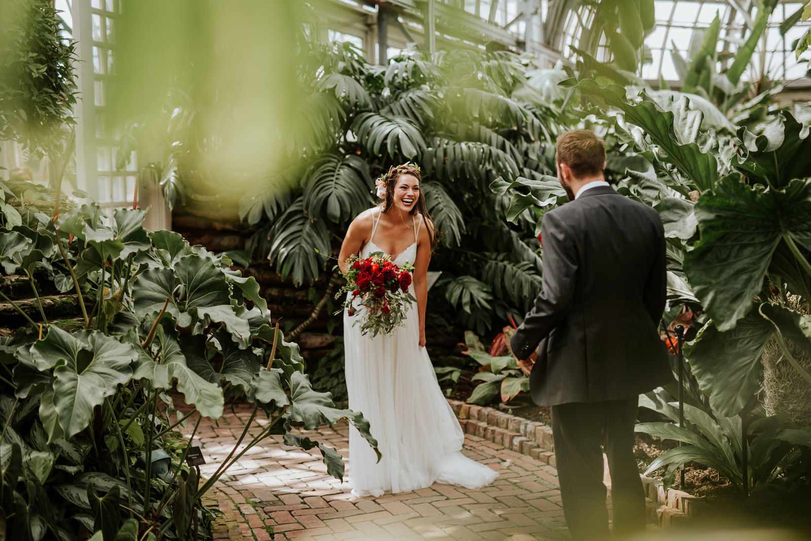Garfield Park Conservatory Wedding.Intimate Backyard Wedding Chicago Chloe Josh Chicago