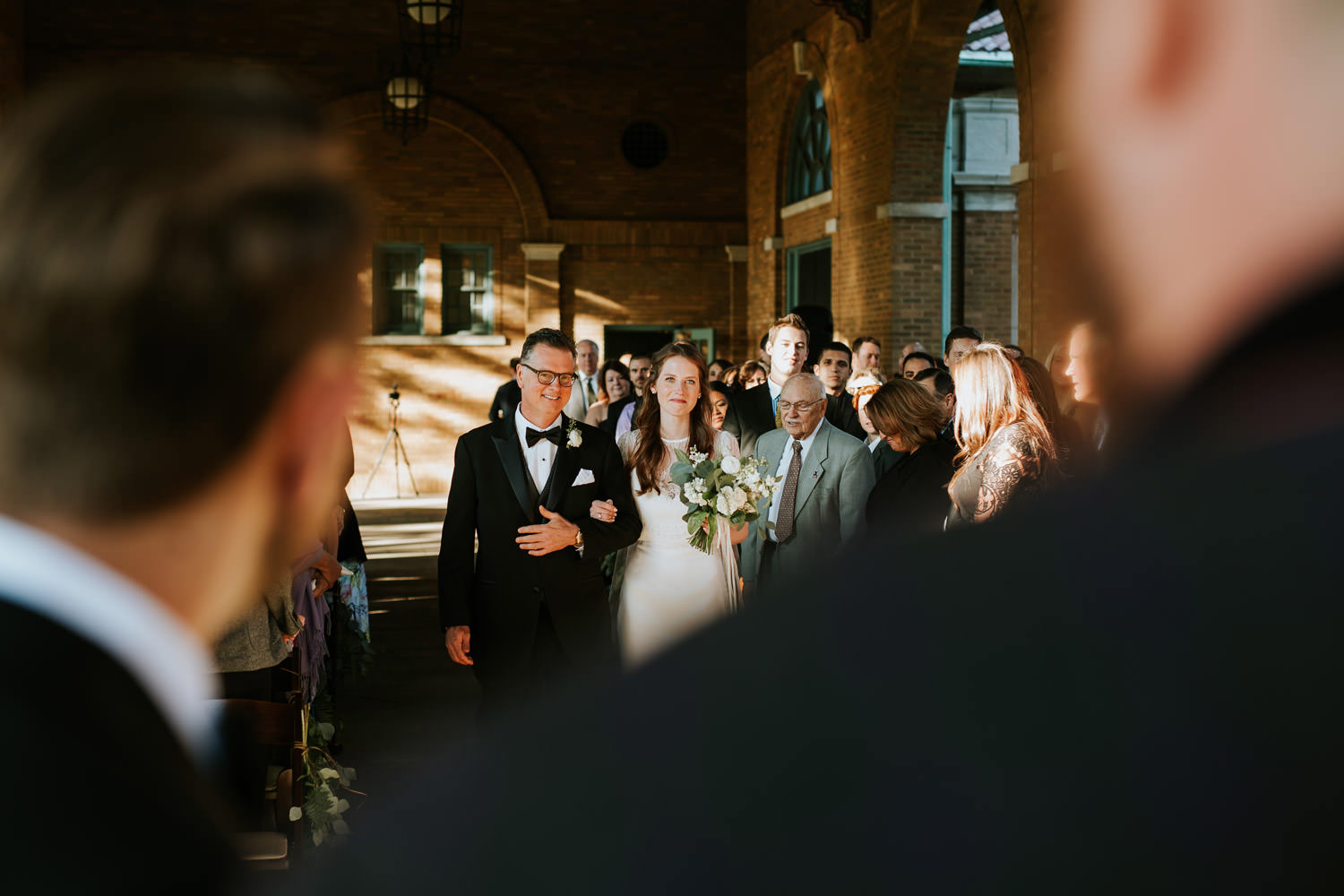 Columbus Park Refectory wedding ceremony