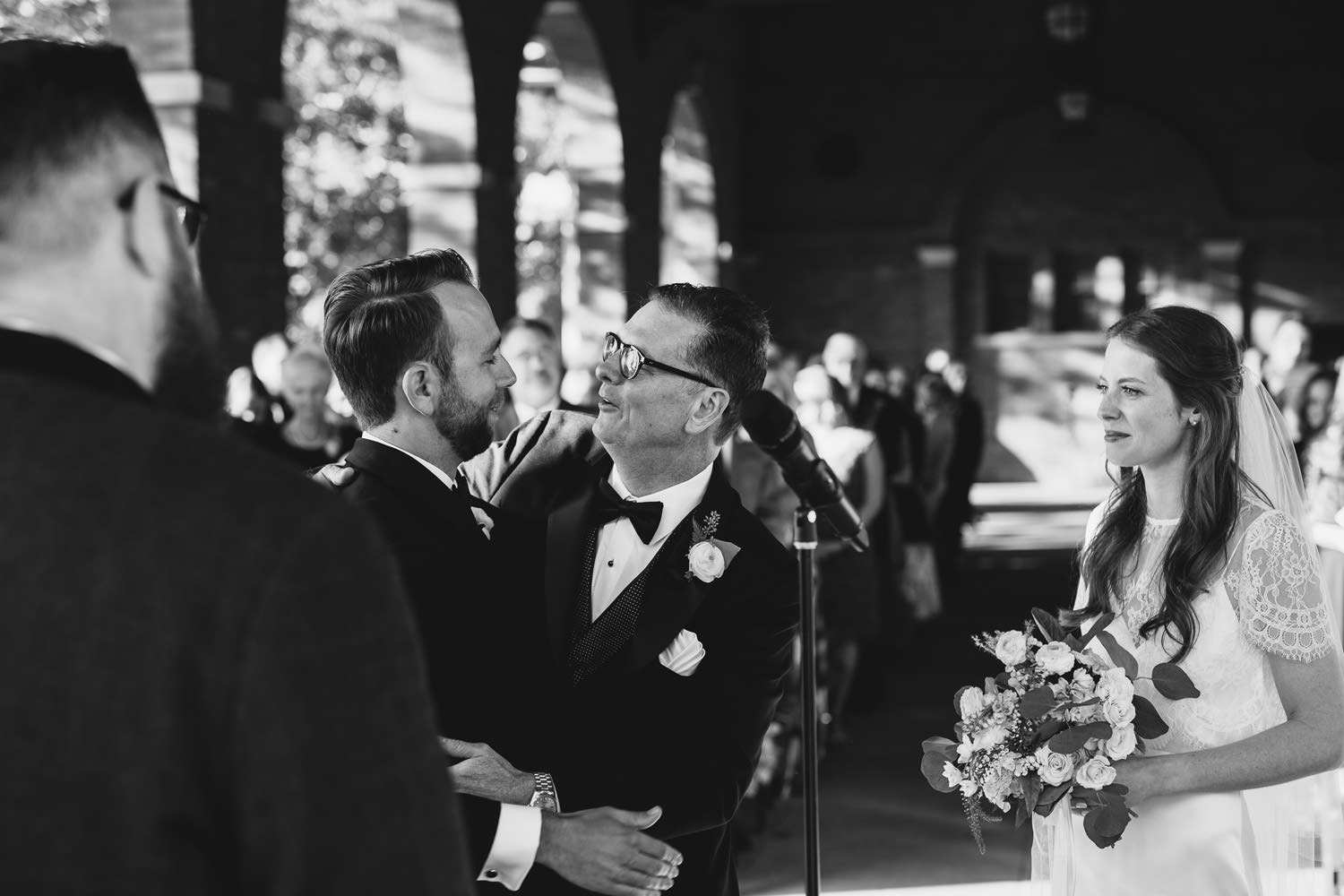 Columbus Park Refectory wedding ceremony pictures