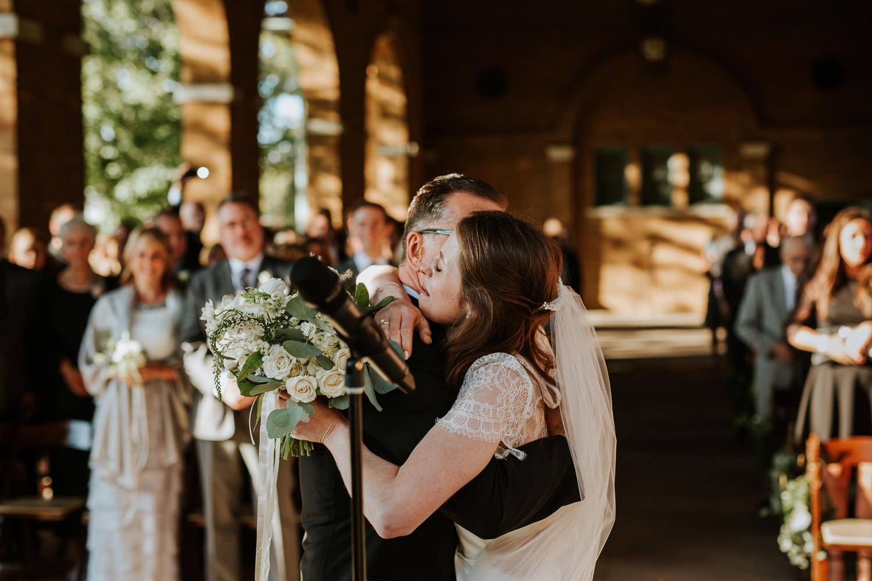 Columbus Park Refectory wedding ceremony photography