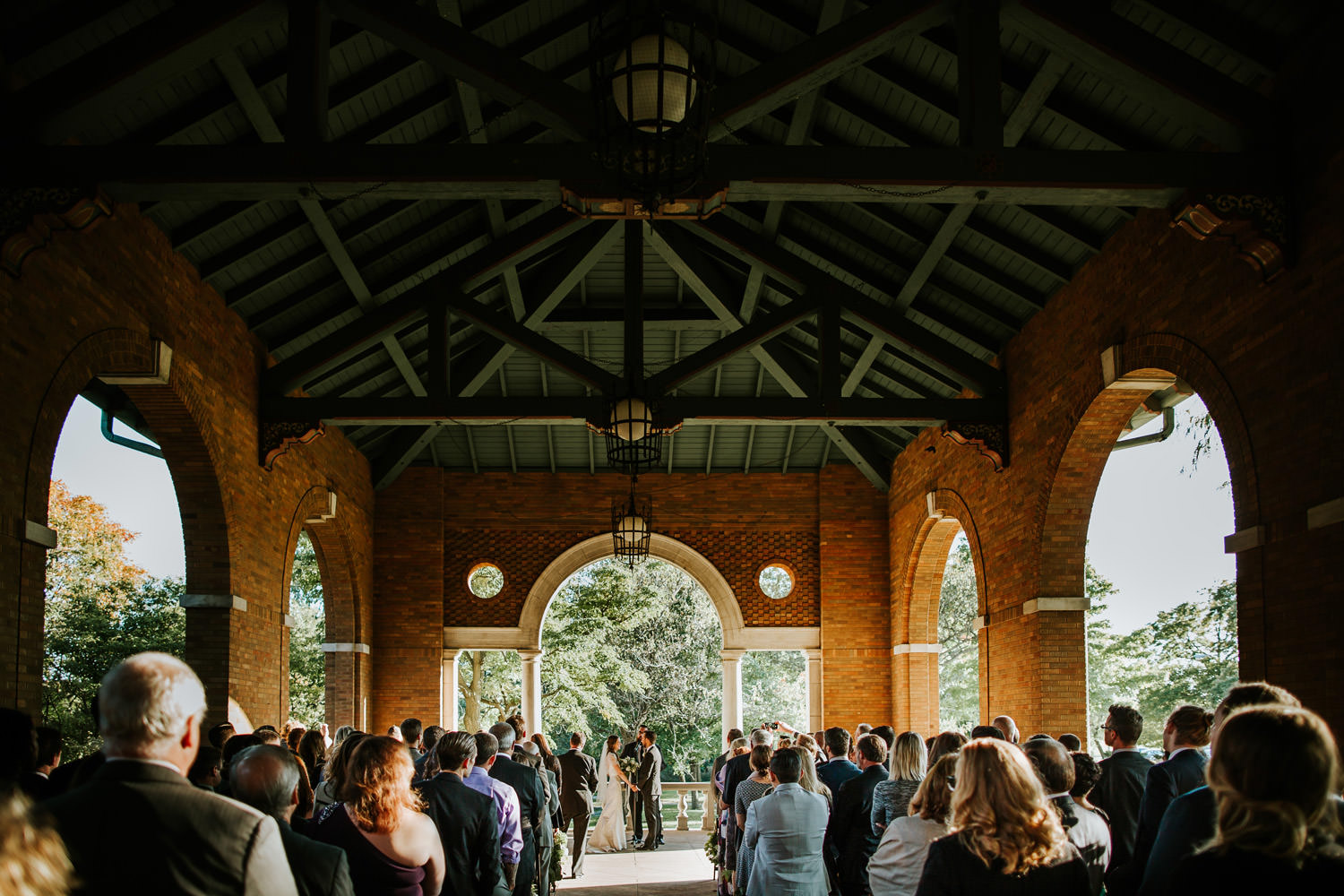 Columbus Park Refectory outdoor wedding ceremony