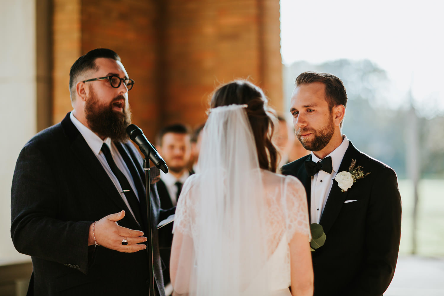 intimate ceremony at Columbus Park Refectory