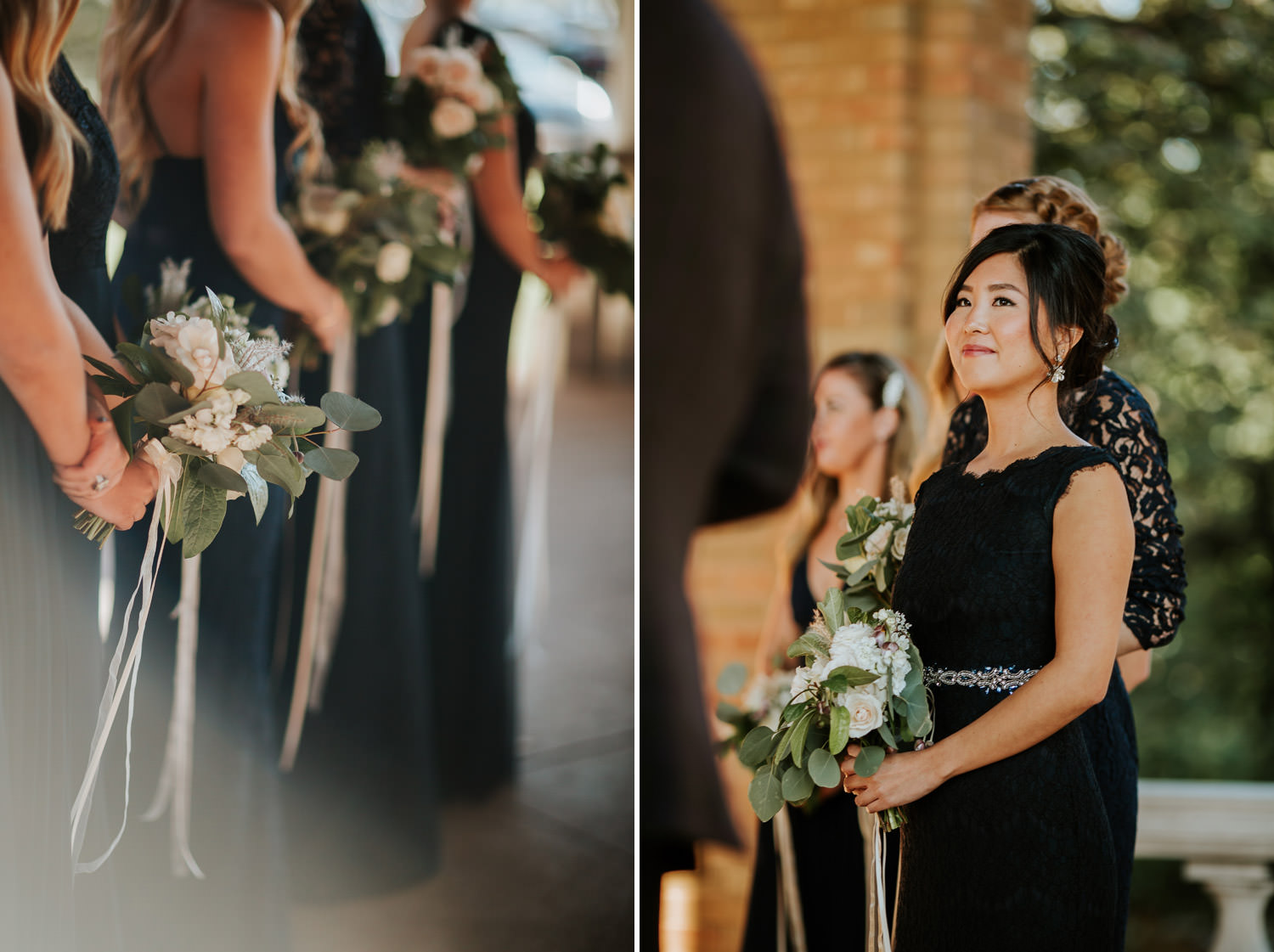 barmaids during the ceremony at Columbus Park Refectory