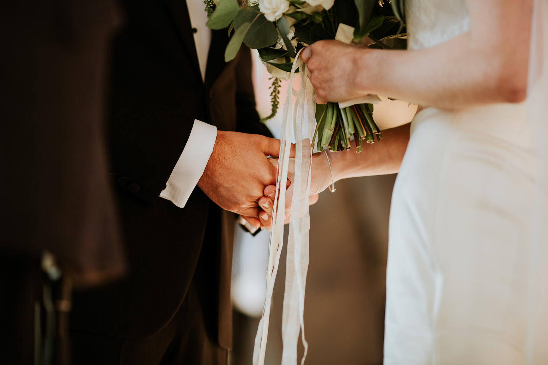 wedding day ceremony Columbus Park Refectory