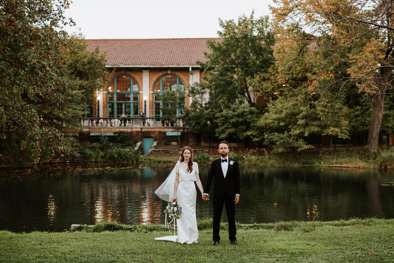 Columbus Park Refectory wedding portrait
