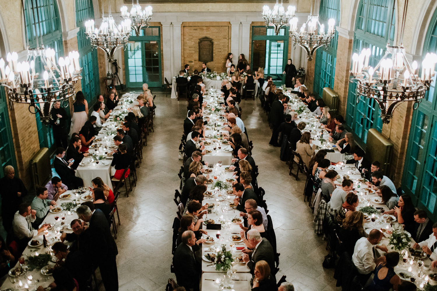 Columbus Park Refectory fall wedding