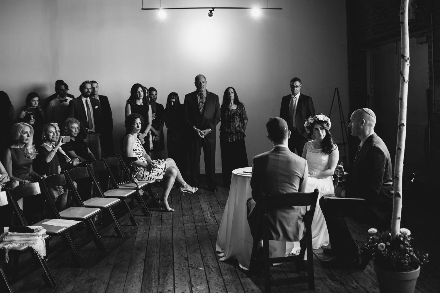 Modern Jewish wedding in Gallery 1028