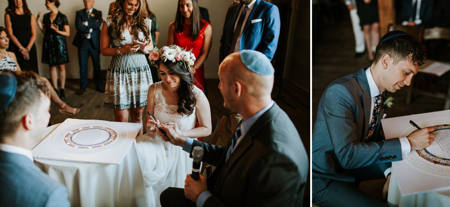 Photographing jewish wedding with natural light in gallery 1028