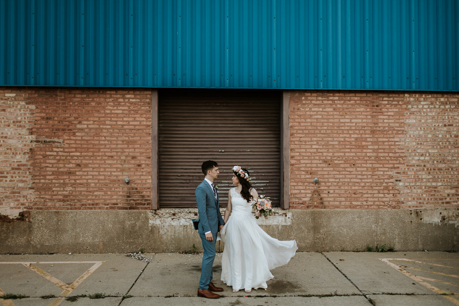 Fine art bridal portraits in Chicago