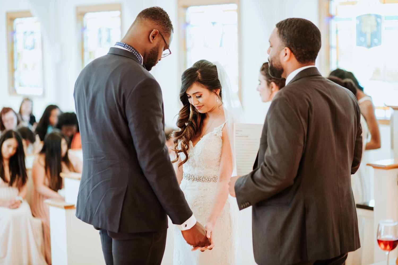 Ghanian Filipino wedding ceremony