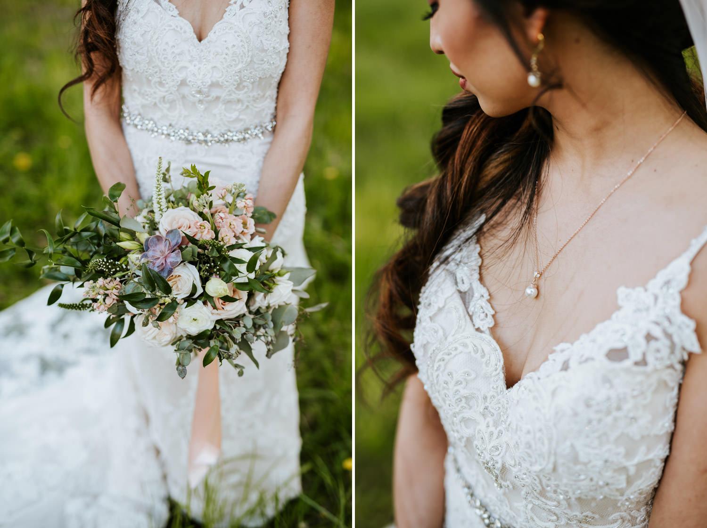 Bride dress details pictures