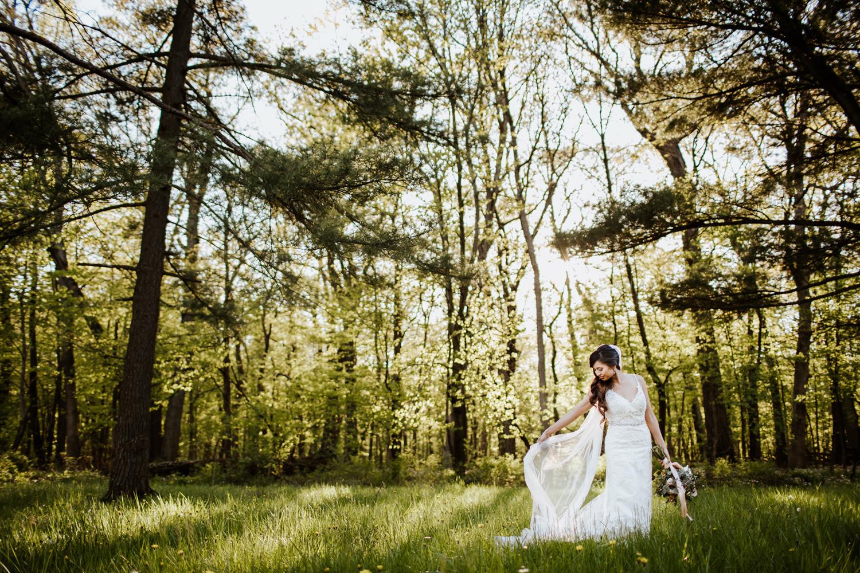 Bride fine art portraiture Chicago wedding