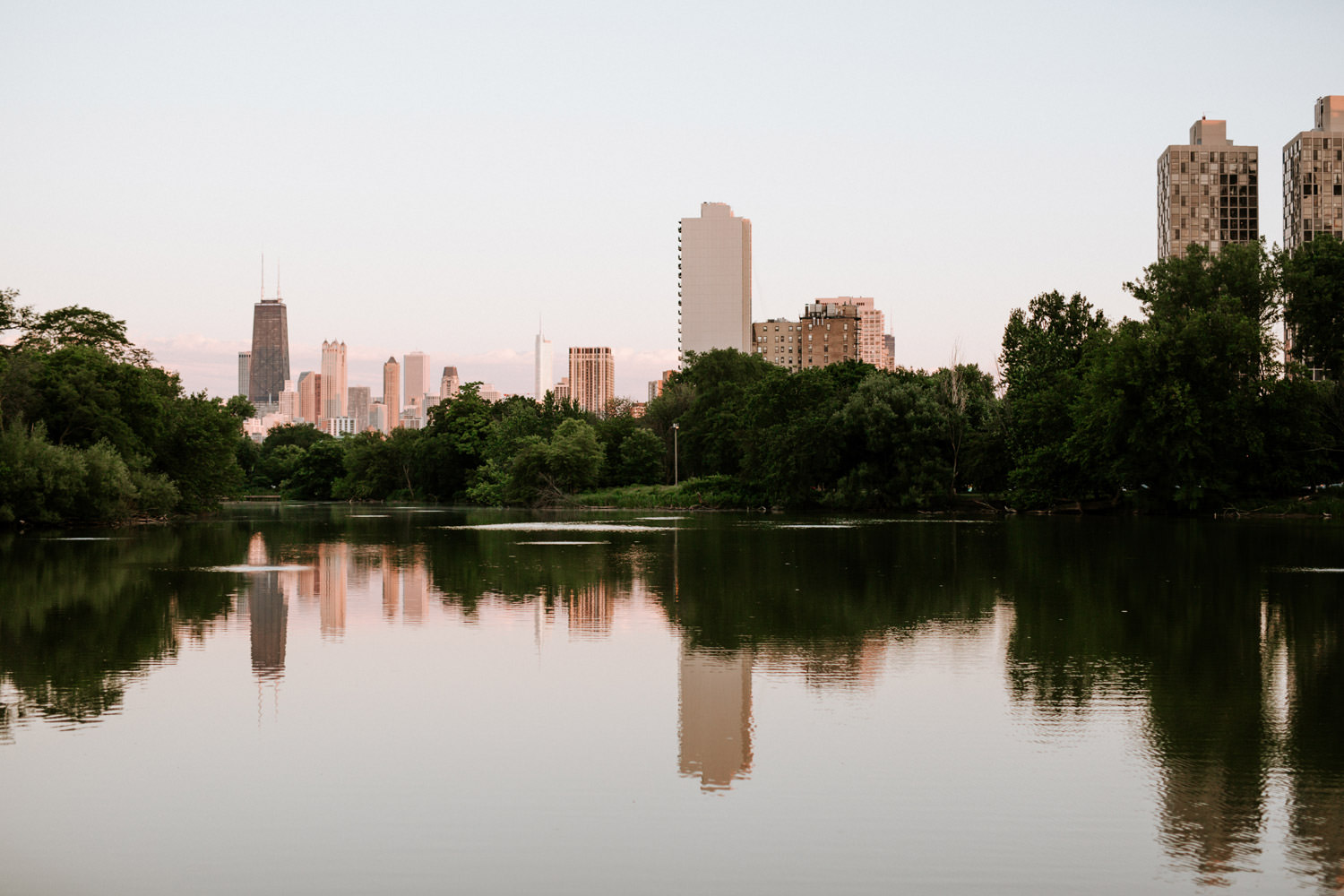 View of the North Pond in Lincoln park take during the engagement shoot.