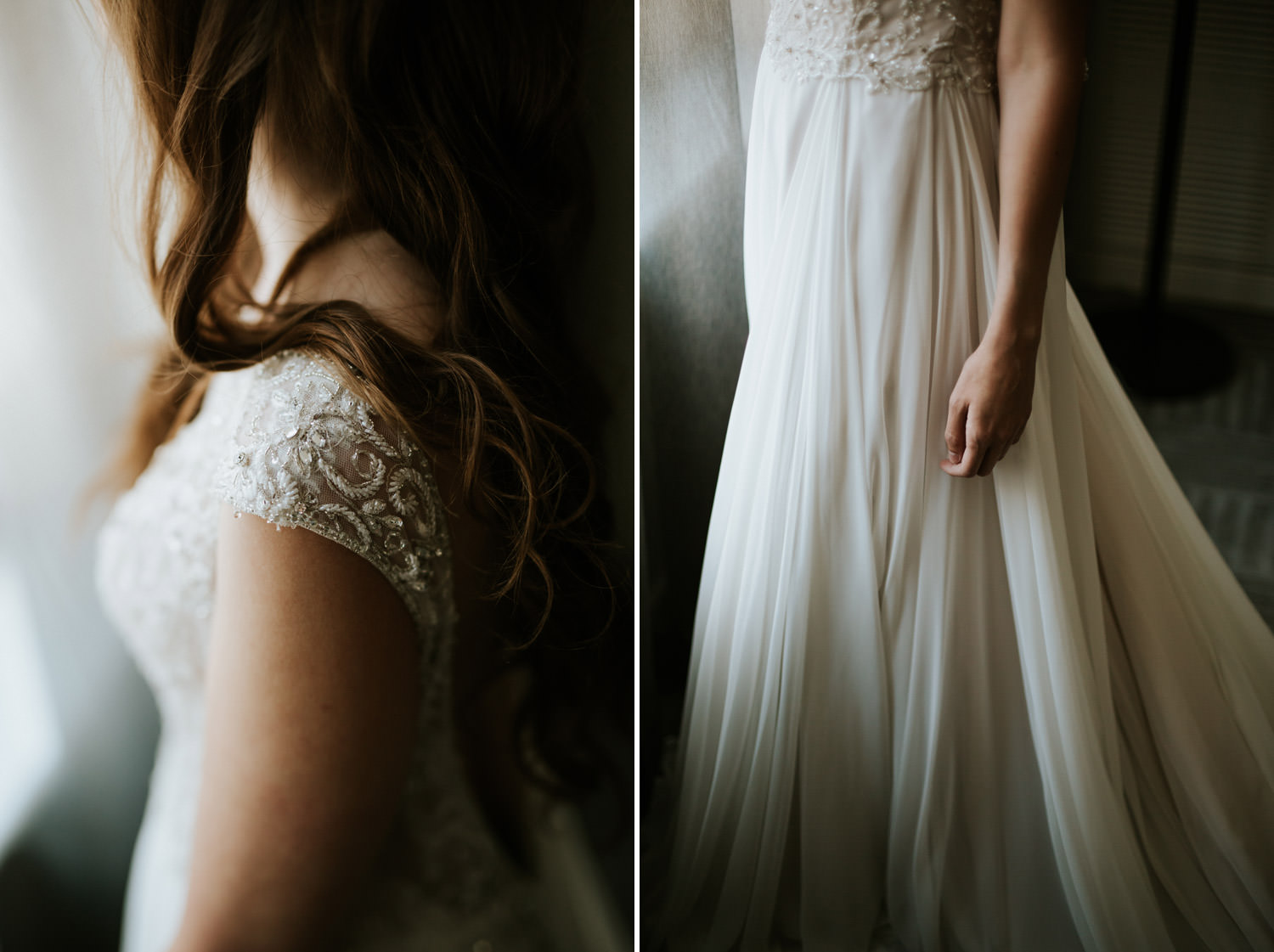Fine art portraits of the bride at Chicago