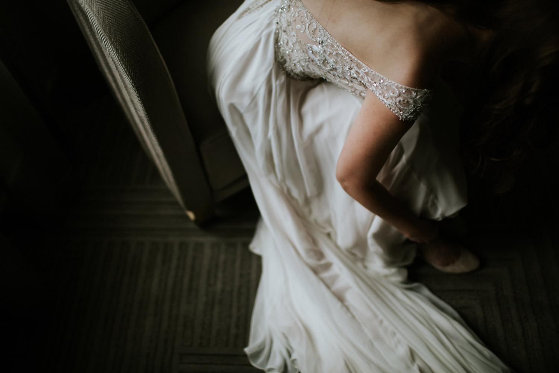 Fine art picture of the bride's dress