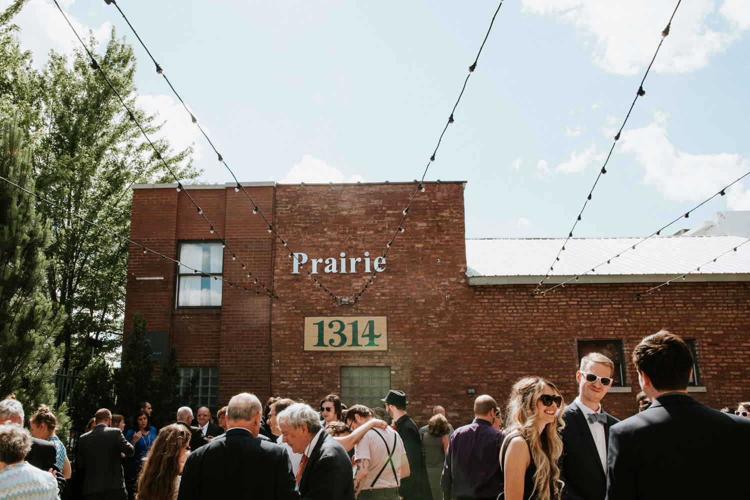 Coctail hour at prairie productions in Chicago
