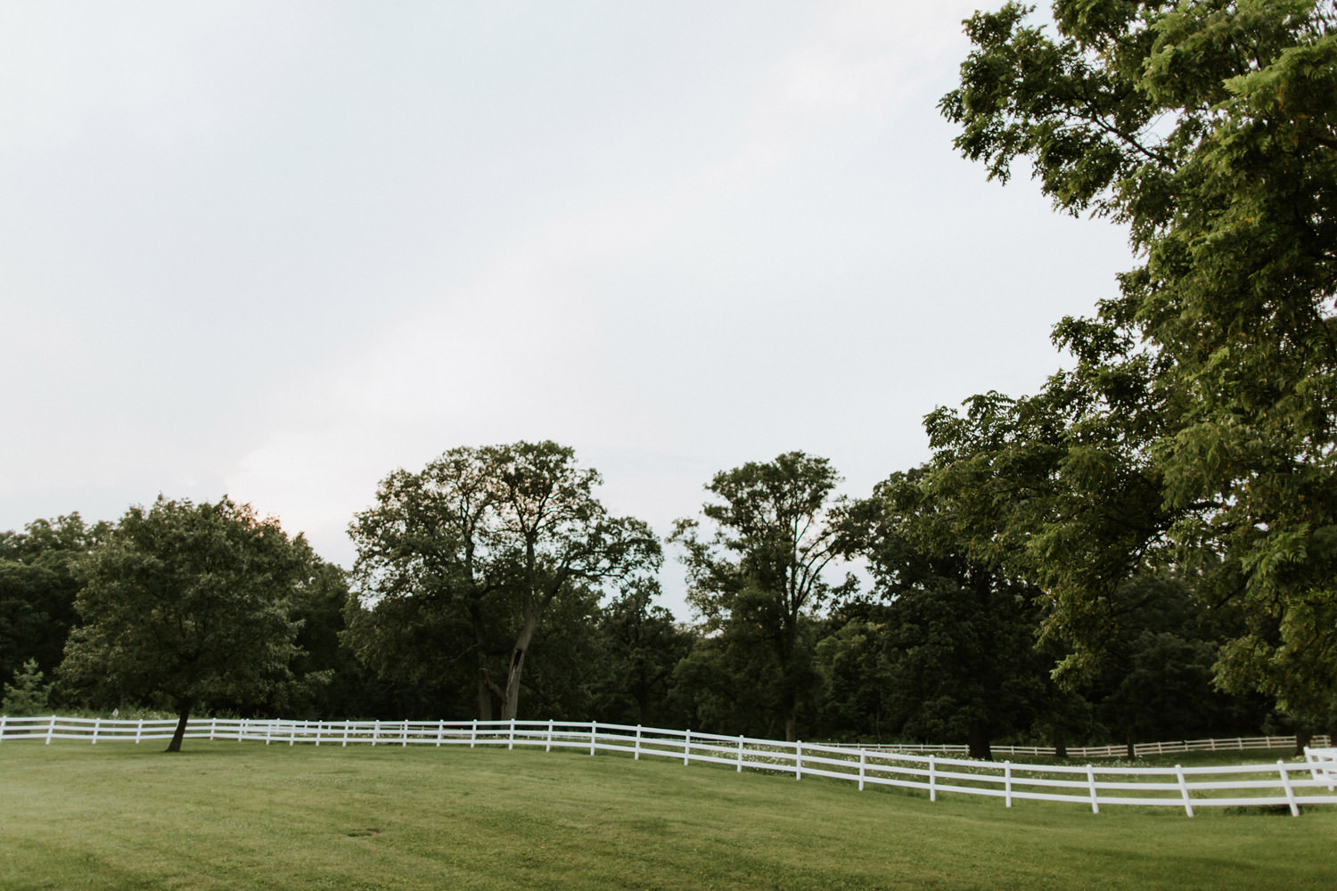 St. James farm photographed at sunset