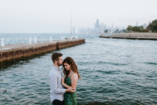 Lake Michigan Chicago Engagement Photographer | Heather + Ben