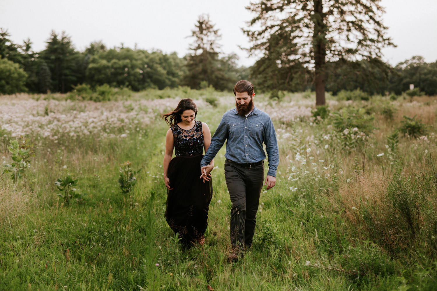 St. James farm engagement photos