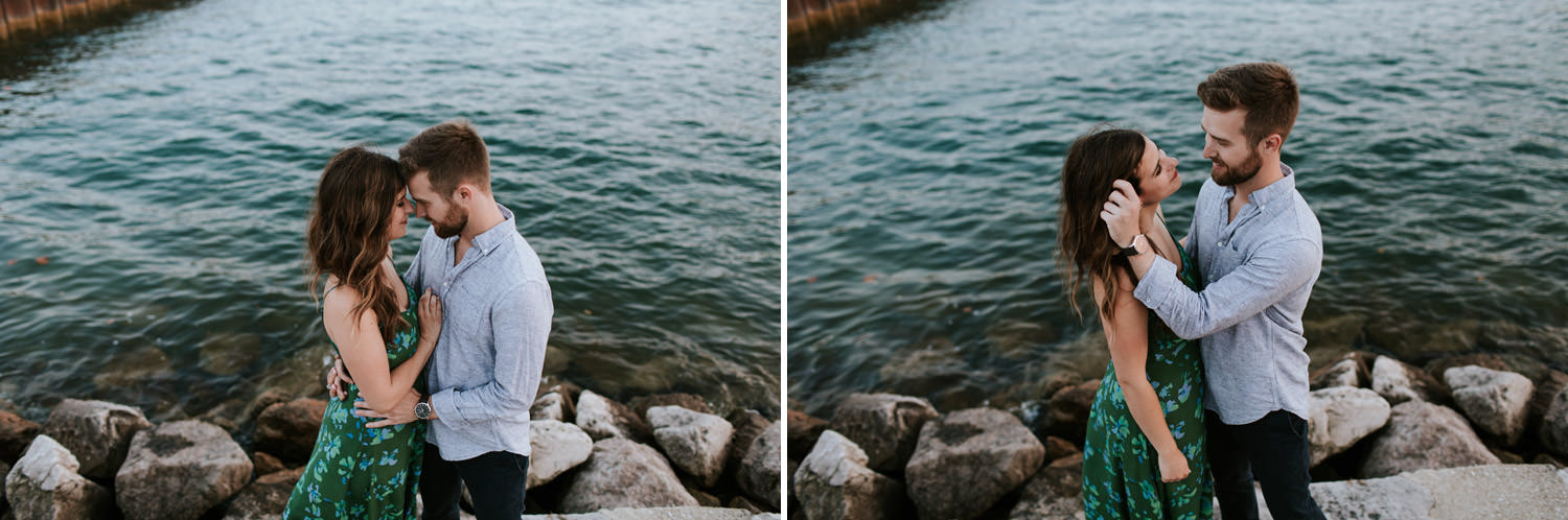 chicago engagement photographer - session by the lake
