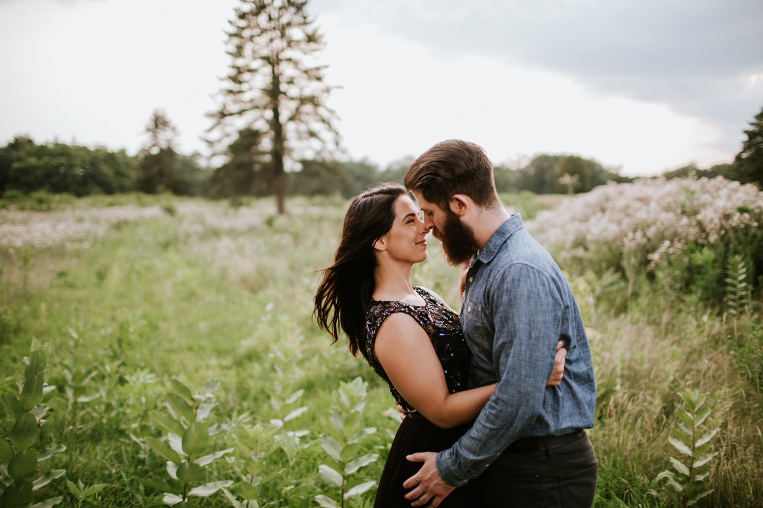 St. James farm engagement photographer