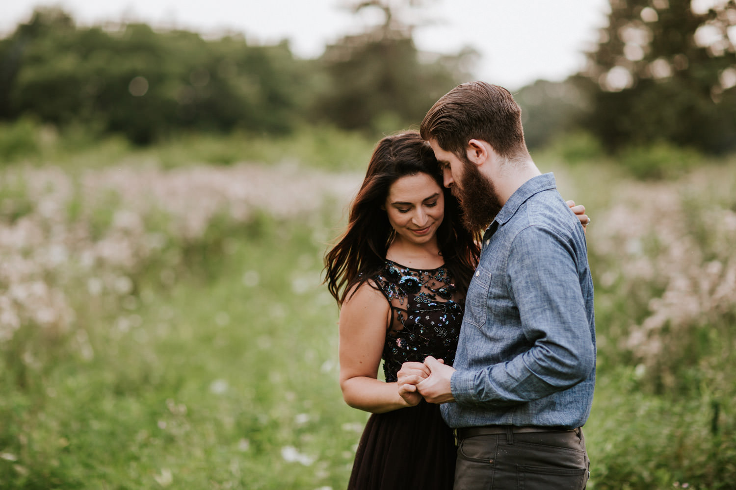 engagement session at st. james farm in Wheaton
