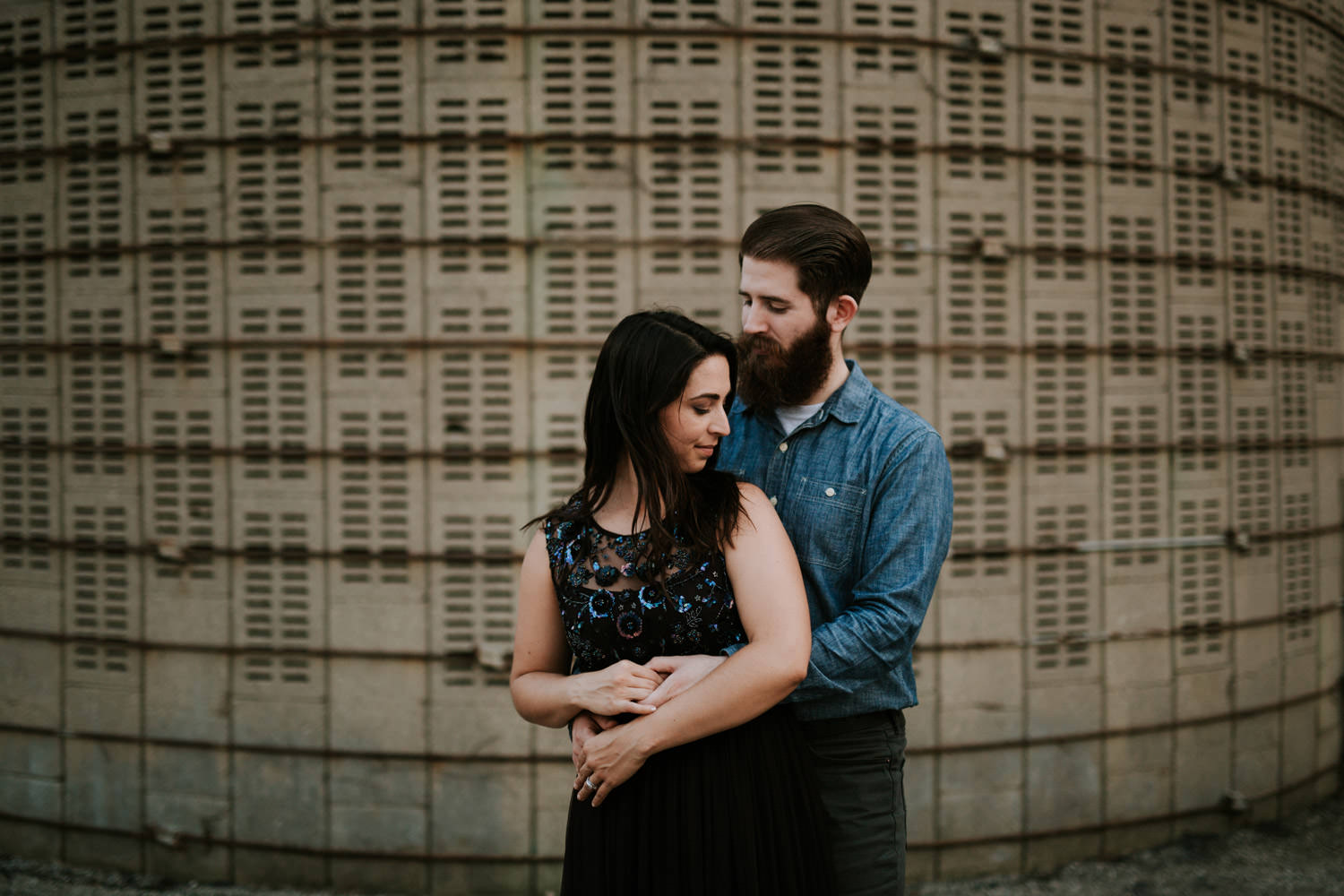 Outdoor engagement session photographed in Chicago