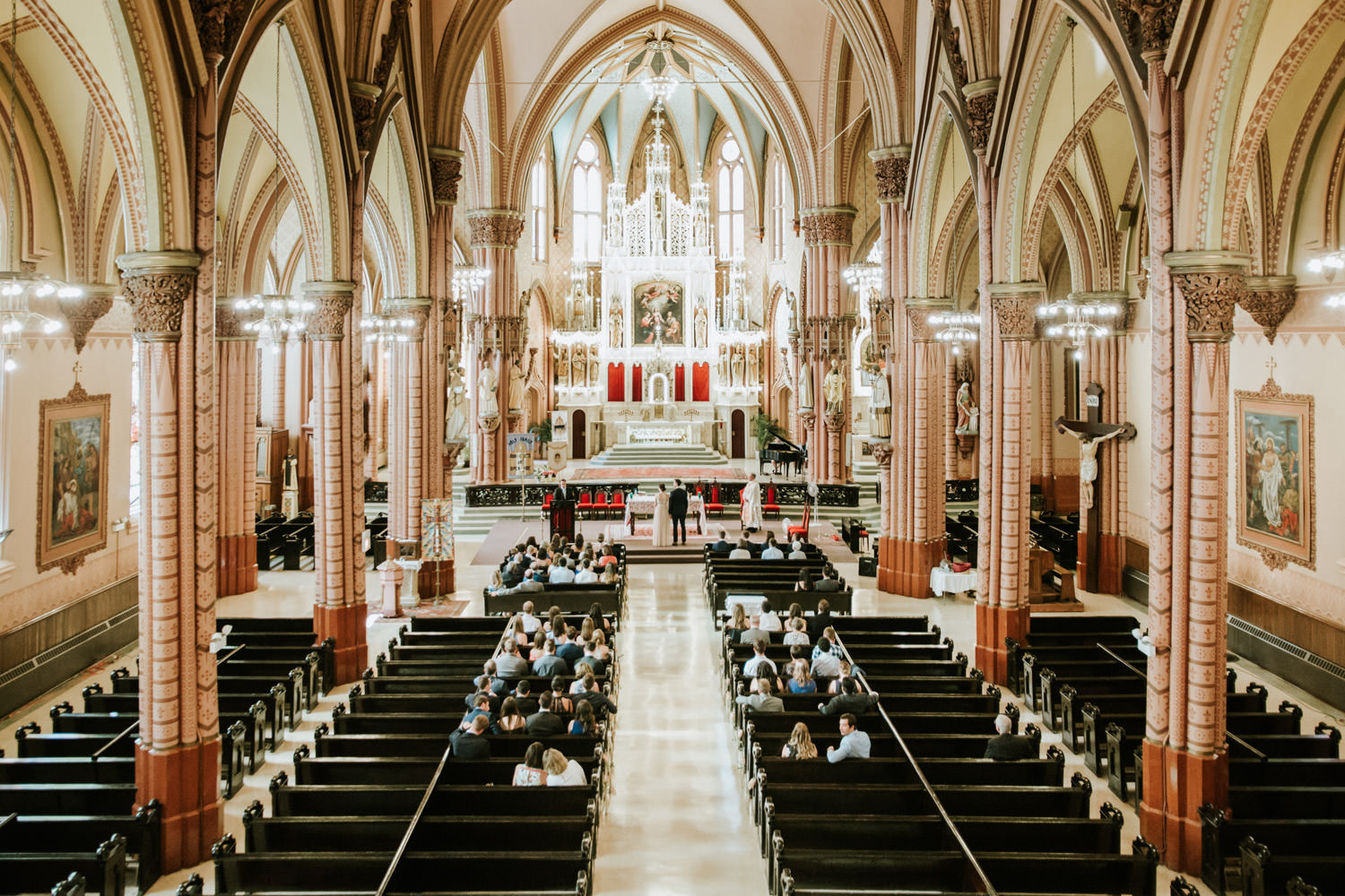 Picture of the wedding at Holy Family Catholic Church