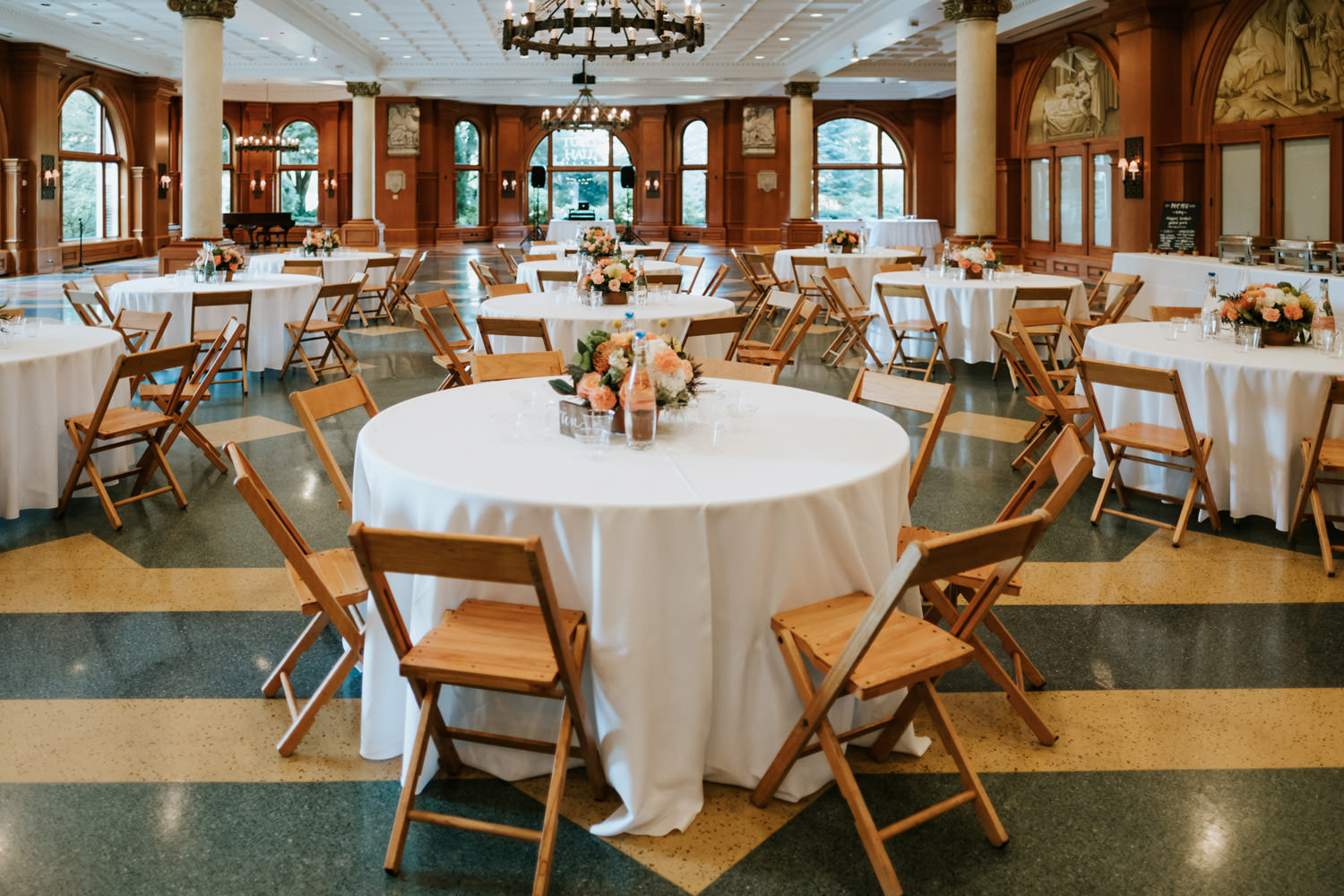 Picture of wedding table set up at Saint Ignatius College Prep