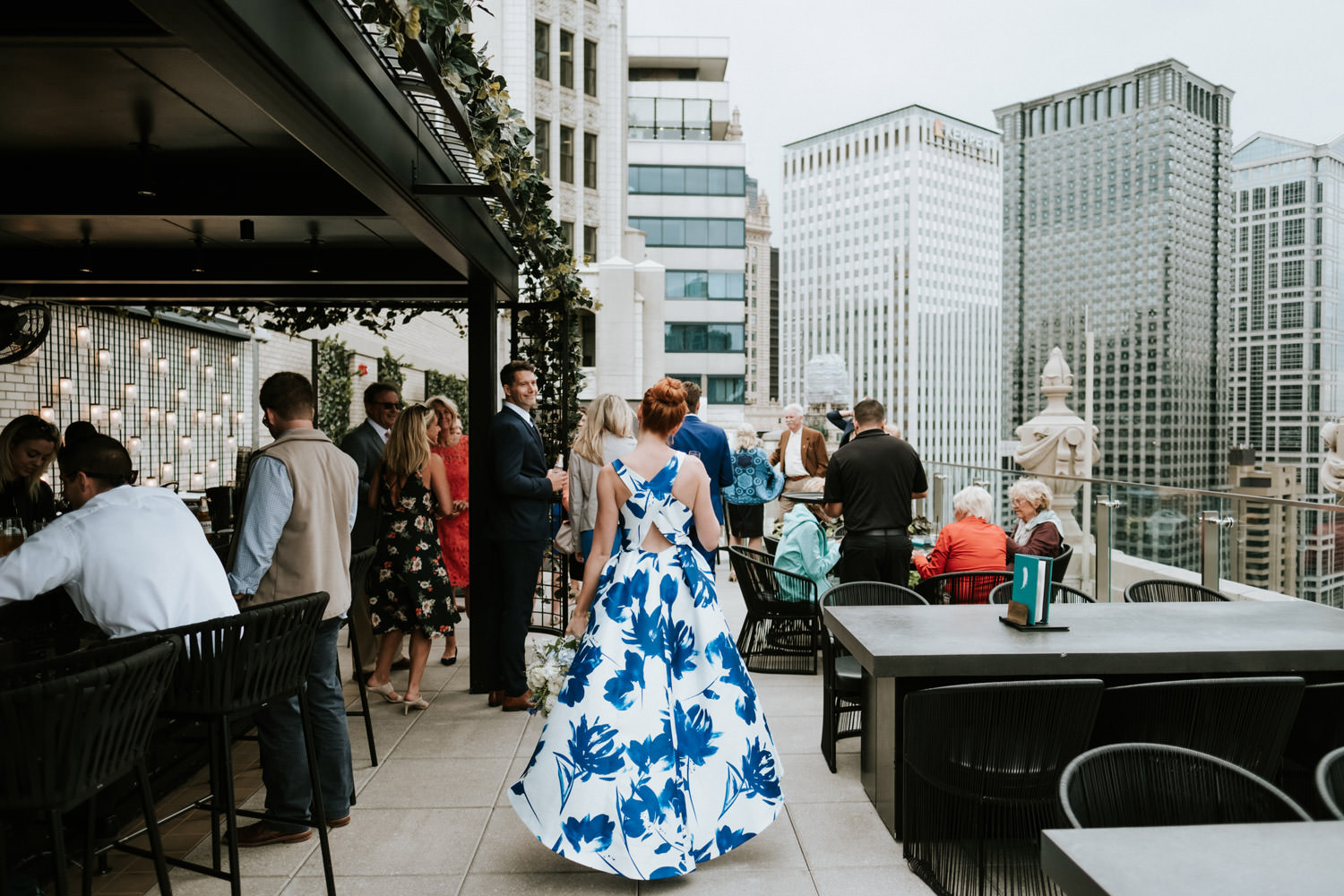 bride and groom celebrate at London House in Chicago