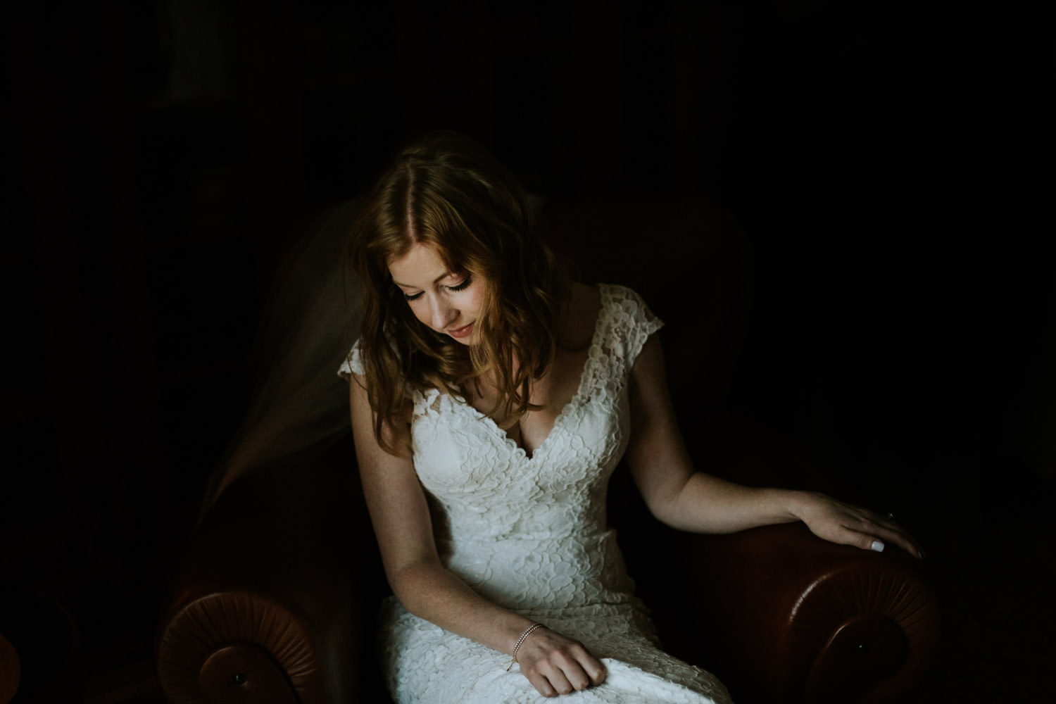fine art bride portrait taken at Chicago Athletic Association hotel