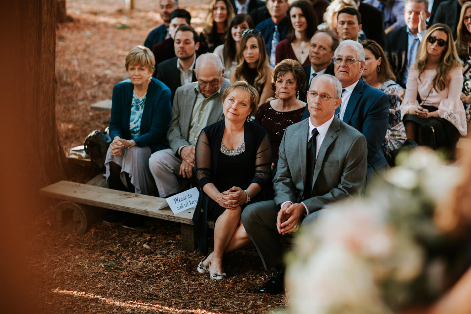 Picture of the Parents of the bride during the wedding ceremony at YMCA Camp Campbell
