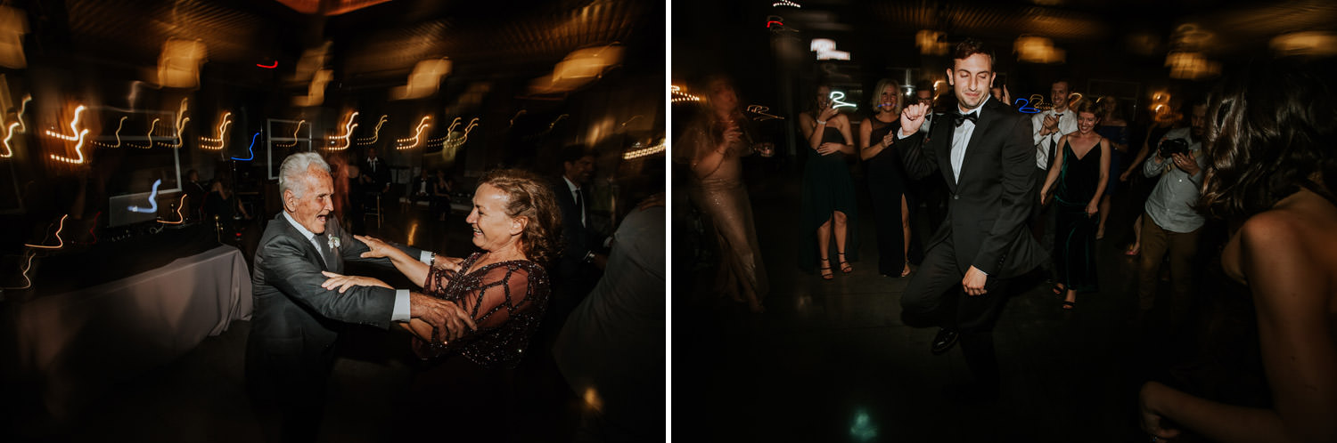 guest dancing on the wedding day at hotel gray in Chicago